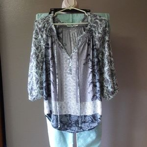 J.Crew Stretch 31 with Boho top Med.